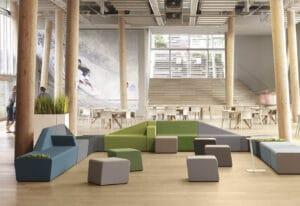 Aménagement hall d'accueil design remarquable - espace d'attente