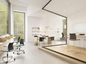 Aménagement espaces de travail en coworking - Bloom Inside Lyon