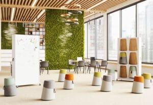 Aménagement espaces de travail à Lyon - espaces réunion ou atelier brainstorming - Bloom Inside Lyon