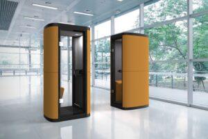 Aménagement de cabines acoustiques dans des espaces de travail en flex-office ou coworking - Bloom Inside Lyon