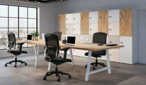 Aménagement rangements et casiers dans espaces de travail en flex-office ou coworking - Bloom Inside Lyon