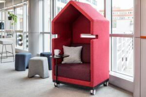 Aménagement espaces de travail en flex-office - espace acoustique de concentration - Bloom Inside Lyon