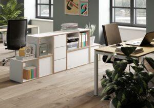 Aménagement cloisons rangements dans espaces de travail - Bloom Inside Lyon