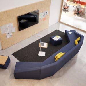 aménagement flex office bureaux équipés de toute la technologie d'avenir - Bloom Inside Lyon
